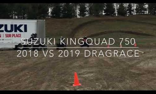 Accélération comparative Suzuki Kingquad 750 2019 vs 2018
